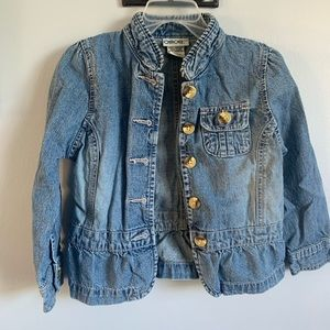 5/$15!! Cherokee jean jacket with buttons
